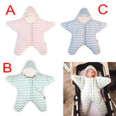 睡袋 防踢 防寒 睡袋 海星睡袋 睡衣 加厚長袖連身裝 三色 寶貝童衣