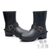 女士成人雨鞋防滑雨靴春夏時尚膠鞋馬丁水靴【極簡生活】