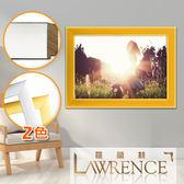 【羅蘭絲】金屬絲紋實木相框證書框獎狀框6x8吋(2色)畫框木框照片框相片框客製-737