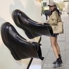 平底短靴馬丁靴女春秋單靴瘦瘦鞋網紅英倫風內增高短靴新款顯瘦靴子 【快速出貨】