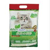 【寵物王國】EcoClean艾可豆腐貓砂-綠茶味7L