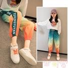 女童休閒褲寬鬆長褲秋款長褲洋氣兒童運動褲【聚可愛】