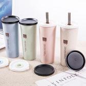 塑料水杯便攜吸管杯成人創意潮流清新女學生杯子韓版國