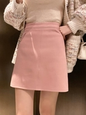 XIAOGULI光板A字半身裙女2020年春季新款少女氣質休閒純色短裙潮 後街五號