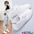 小白鞋 鞋子女2021年秋季新款百搭小白女鞋運動學生休閒爆款白鞋秋冬板鞋 寶貝計畫 618狂歡