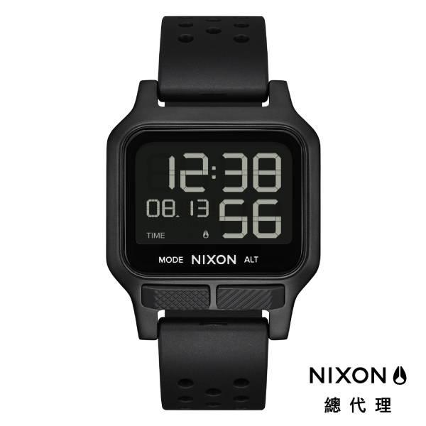 NIXON HEAT 極限運動 超輕薄電子錶 全黑 多功能 超強電池壽命 雙時區 夜光 計時 (贈手錶扣環)