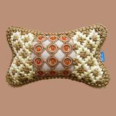 手編冰絲汽車坐墊頭枕夏季一對四季護頸枕頭靠枕記憶頸枕汽車用品 英雄聯盟