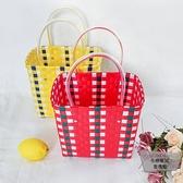 籃菜籃子手工藤編野炊購物籃買菜手提包編織野餐【小檸檬3C】
