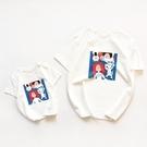 親子裝 全棉親子裝 2020夏季新款一家三口裝 母子母女裝短袖T恤 洋氣卡通