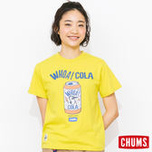 CHUMS 日本 女 可樂 Cola 純棉短袖T恤 萊姆綠 CH111121M014