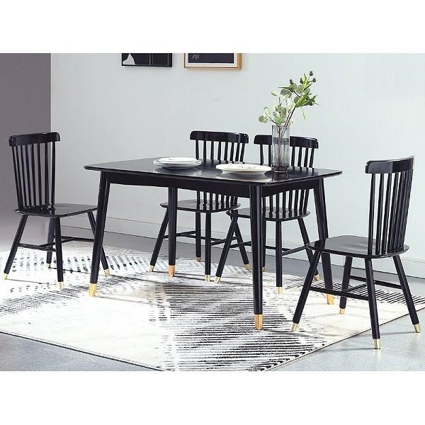餐桌 CV-750-5 溫妮黑色長方餐桌 (不含椅子) 【大眾家居舘】