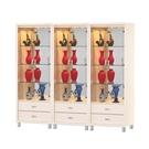 展示櫃 立櫃 收納櫃 強化玻璃門 LED展示燈 超值組合3件