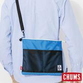 CHUMS 日本 Eco 休閒肩背扁包 藍 CH602360A049