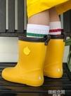 兒童雨鞋 日本兒童雨鞋男童女童小學生幼兒園寶寶小孩水鞋套鞋膠鞋防滑防護