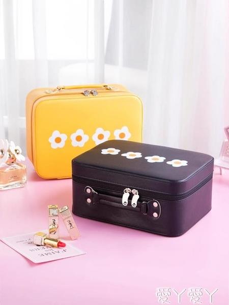 化妝箱 可愛化妝包2021新款超火便攜大容量收納盒手提箱品風日系韓國 愛丫 新品