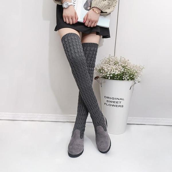 過膝靴高筒靴秋冬彈力靴女士兩穿瘦瘦靴時尚長款單靴子潮 - 風尚3C