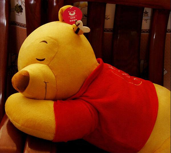小熊維尼熊公仔趴趴熊抱枕睡姿熊80CM【藍星居家】