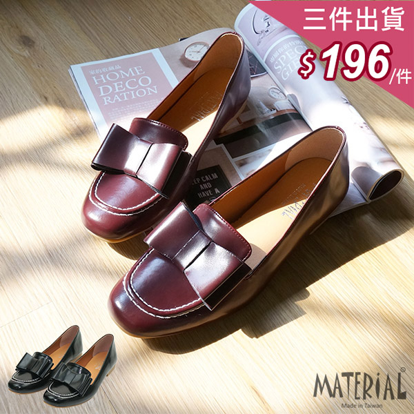 懶人鞋 蝴蝶結樂福鞋 MA女鞋 T3272