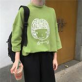 韓系 女孩印花寬鬆棉T上衣-中大尺碼 獨具衣格