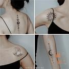 【1套11張】ins風星球紋身貼月亮圖案暗黑系防水持久女鎖骨貼紙男【橘社小鎮】