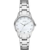 【ELLE】/優雅晶鑽貝殼面腕錶(男錶 女錶 Watch)/ELL25001/台灣總代理原廠公司貨兩年保固