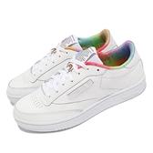 【海外限定】Reebok 休閒鞋 Club C 85 PRIDE 白 彩虹 彩色 男鞋 同志驕傲月 小白鞋【ACS】 FX4771
