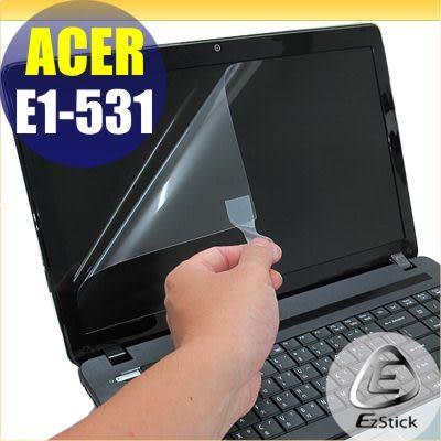 【EZstick】ACER aspire E1-531 專用 靜電式筆電LCD液晶螢幕貼 (可選鏡面及霧面) 另有客製化服務