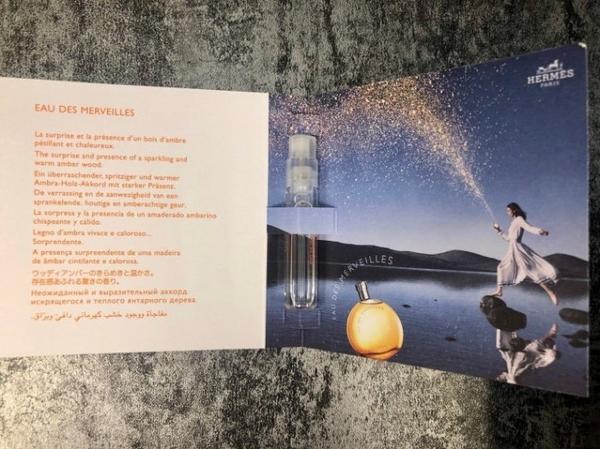 ◐香水綁馬尾◐ HERMES愛馬仕 Eau des Merveilles 橘采星光女性淡香水 針管 2ML