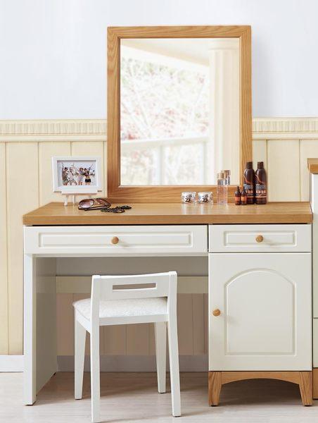 【森可家居】英式小屋鏡台(不含椅) 7JX38-7 梳化妝檯 鄉村風