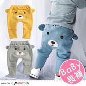 寶寶刺繡熊耳朵造型屁屁褲 中/長褲