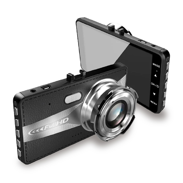 【FullHD高畫質!超薄新型4吋大螢幕】前後鏡頭 行車記錄器 無縫循環錄影 1080P