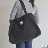 托特包 厚實大容量購物袋休閒文藝單肩包女大包手提包簡約百搭帆布包【快速出貨】