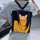 帆布包 女斜挎單肩手提袋學生包包2021新款潮大容量手拎帆布袋【快速出貨八折鉅惠】