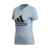 adidas 短袖T恤 Must Haves Badge of Sport Tee 藍 黑 女款 大Logo 三條線 【PUMP306】 DY7734