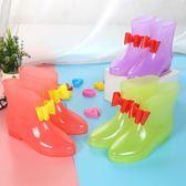 萬聖節大促銷 小學生中大童公主蝴蝶結兒童雨鞋女童寶寶雨靴小女孩可愛防滑水鞋