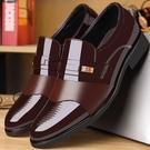 商務正裝皮鞋男士內增高男鞋夏季青年韓版英倫黑色圓頭休閒鞋透氣 後街五號