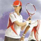 日本名牌 Kawasaki  女版吸濕排汗短POLO衫-白紅#KW2207A