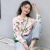 快速出貨 港風復古長袖襯衫女外穿百搭秋裝2020新款韓版寬鬆設計感小眾上衣