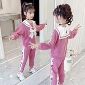兒童套裝女童加絨套裝秋裝2020  洋氣網紅 小女孩 兒童 兩件套歐歐