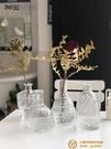 北歐創意水培玻璃花瓶透明花器簡約現代干花插花擺件【小獅子】