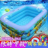充氣泳池小孩男女家用嬰幼兒童充氣游泳池成人家庭寶寶加厚JY 【快速出貨八折】
