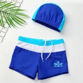 男童泳褲+附泳帽 泳褲 泳帽 大童 男童 橘魔法 Baby magic 現貨 玩水 海邊 游泳