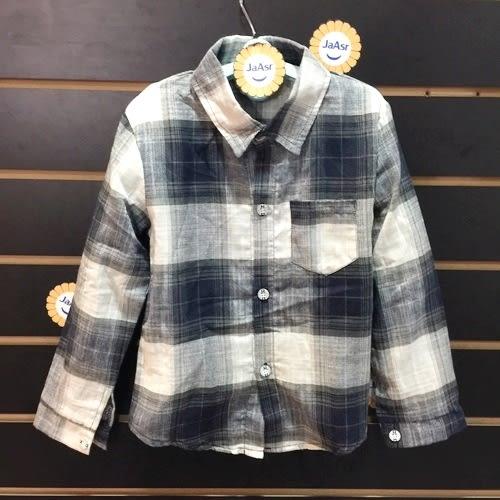☆棒棒糖童裝☆(37099)秋冬男童復古氣質格子款長袖襯衫 5-15