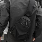 男士胸包休閒潮流簡約單肩斜背包帆布男士包包時尚潮流胸前背包  科炫數位