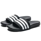 ADIDAS ADILETTE COMFORT 軟底 運動拖鞋 黑白 男女 拖鞋 (布魯克林) AP9966