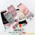 5雙裝 中筒五指襪女卡通秋冬厚款高幫保暖吸汗分腳趾襪【小獅子】