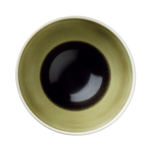 【Luzerne】陸升瓷器 Oyster 15.5cm V型湯碗398ml(A)-綠色 /OT6122016