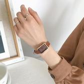 手錶chic手錶女長方形款 ins學院風森系學生輕奢小眾女錶復古簡約氣質 JUST M