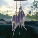 汽車掛件ins捕夢網羽毛車載創意可愛車內裝飾品后視鏡掛飾吊墜女  青山小鋪