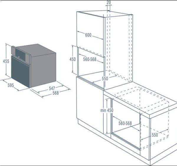 【fami】asko瑞典賽寧 OCS8456S  旋鈕式開關蒸烤爐